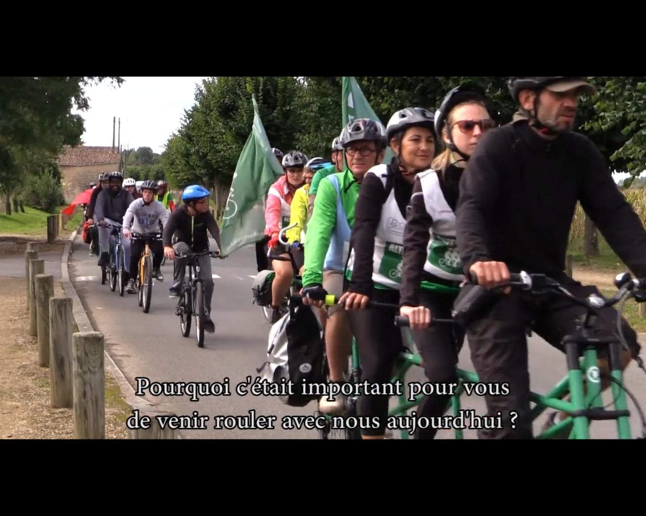 Vidéo souvenir 2015 : le passage du Tour Alternatiba entre Poitiers et Châtellerault