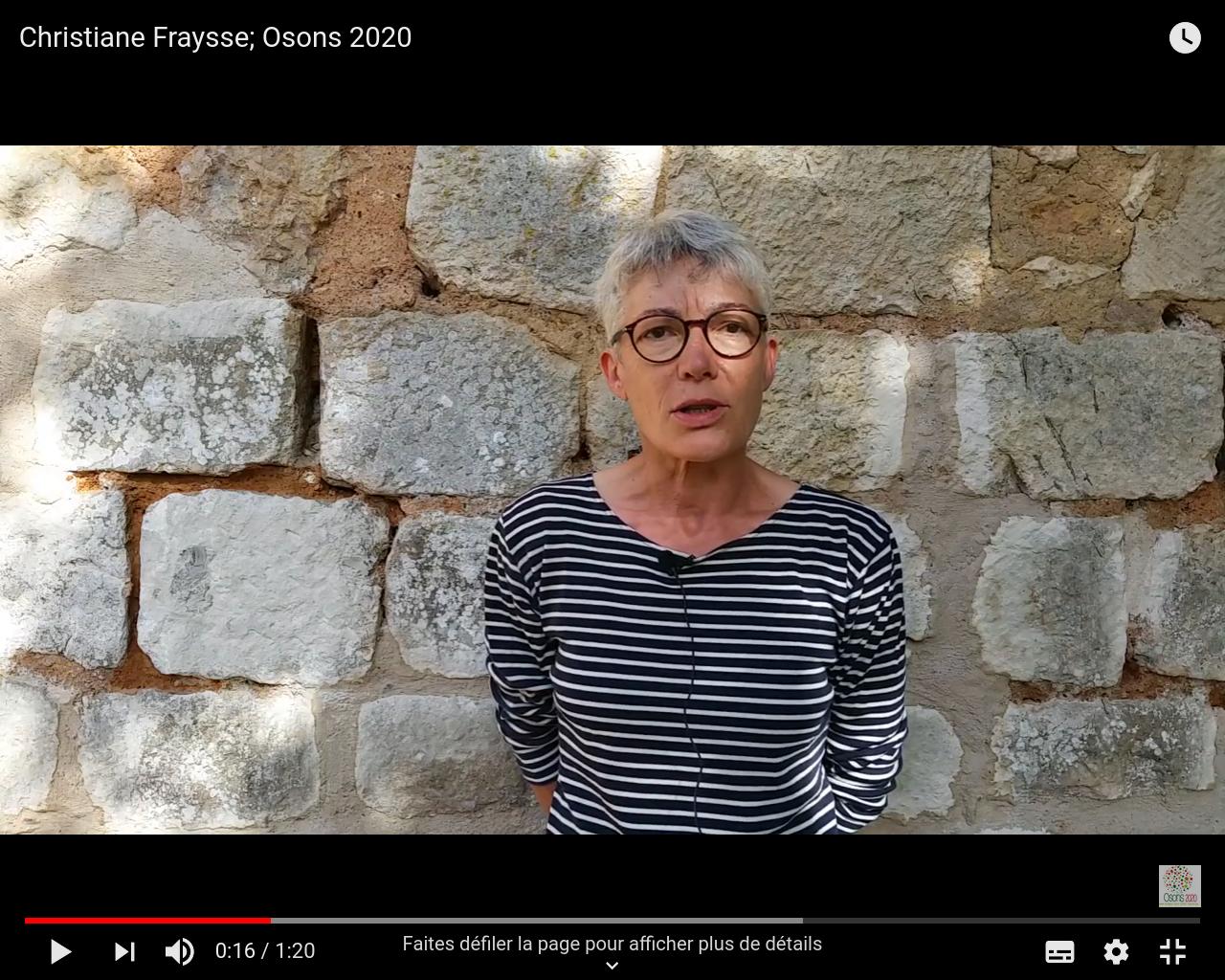Déclaration de Christiane Fraysse, Osons 2020, pour la fusion au deuxième tour
